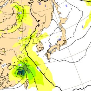 台風8号 2018 ヨーロッパ 11日