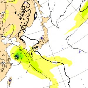 台風14号 2018 ヨーロッパ 12日
