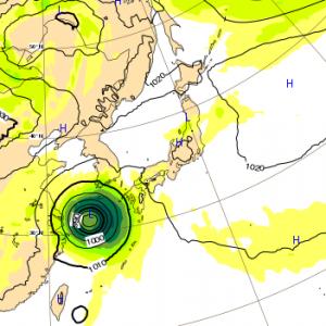 台風25号 2018 ヨーロッパ 6日