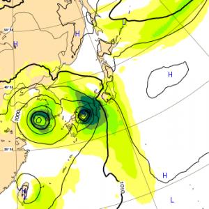 台風20号 ヨーロッパ 23日