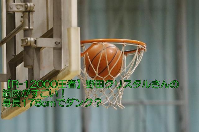 【R-1 2000王者】野田クリスタルさんの筋肉がすごい!身長178cmでダンク?