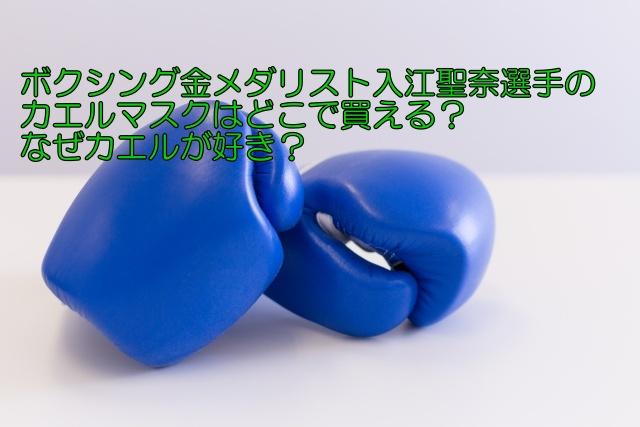 ボクシング金メダリスト入江聖奈選手のカエルマスクはどこで買える?なぜカエルが好き?